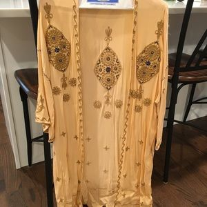 Free People Embroidered Kimono NWOT